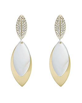 Mood Pave Leaf Drop Earring