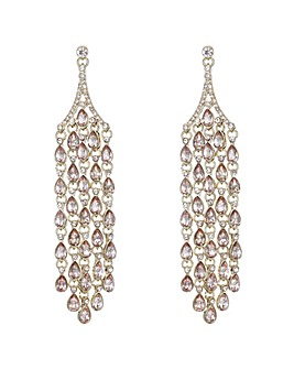 Mood Pink Crystal Chandelier Earring