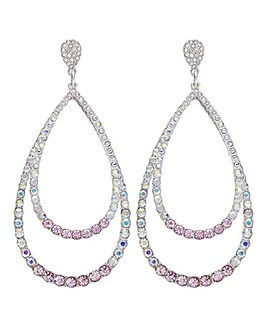 Mood Oversized Crystal Teardrop Earring