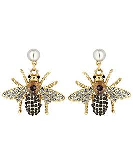 Mood Crystal Bee Drop Earring