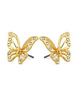 Jon Richard Crystal Butterfly Earring
