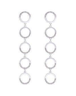 Mood Pave Circle Drop Earring
