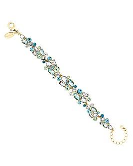 Jon Richard Tonal Green Crystal Bracelet