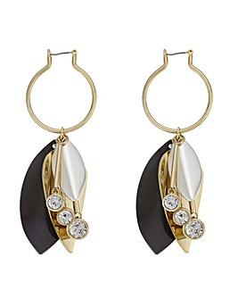 Mood Monochrome Floral Earring