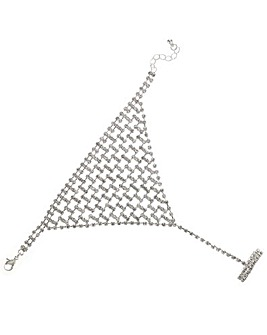 Mood Diamante Crystal Hand Chain