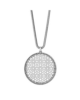 Mood Large Cut Out Disc Necklace