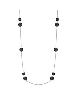 Mood Navy crystal mixed shape necklace