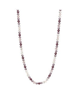 Mood Pink tonal pearl long necklace