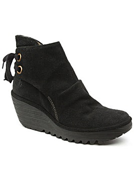 Fly Black Yama Ankle Boot