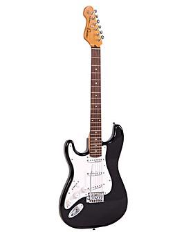 Encore Left Hand Electric Guitar - Black