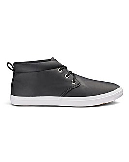 Leather Look Casual Chukka Boots
