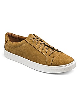 Suede Lace Up Casual Shoe