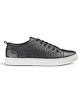 Woven Lace Up Casual Shoe