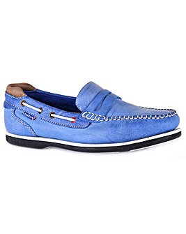 Chatham Peel UK Made Slip-On Deck Shoe