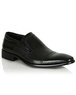Daniel Black Leather Bovington Slip On