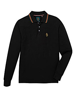 Luke Sport Stripe Collar LS Polo Reg