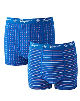 Original Penguin 2 Pk Print/Stripe Trunk