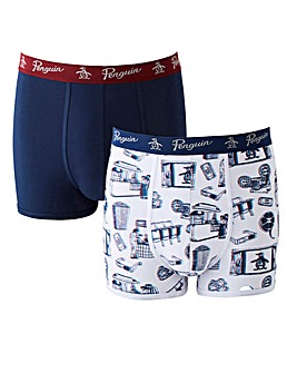 Original Penguin 2 Pk 3D Print Trunks