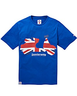 Lambretta Flag Scooter T-Shirt Long