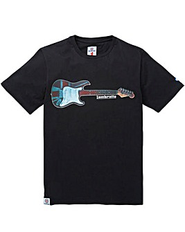LAMBRETTA GUITAR PRINT T-SHIRT LONG