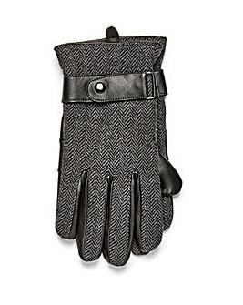 Black Label Tweed Gloves