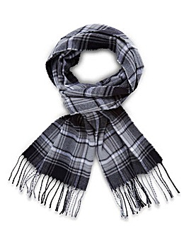 Black Label Smart Check Scarf