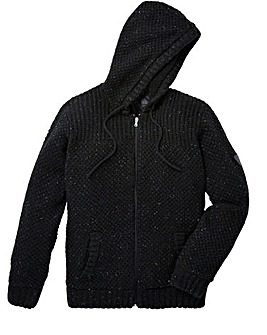 Firetrap Howlet Hooded Knit Zip Thru