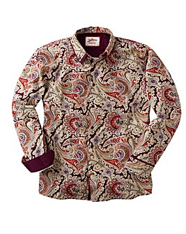 Joe Browns Double Coll Paisley Shirt Reg
