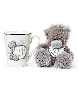 Me to You Gift Boxed 21st Mug and Plush