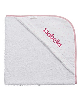 Personalised Baby Hooded Stars Towel