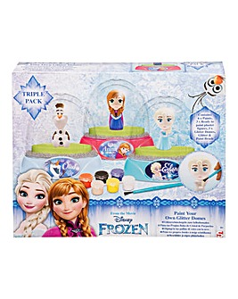 Frozen 3 pk Paint Your Own Glitter Dome