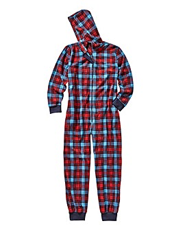 Pretty Secrets Tartan Fleece Onesie
