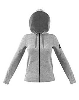 Adidas Solid Zip Through Hoodie