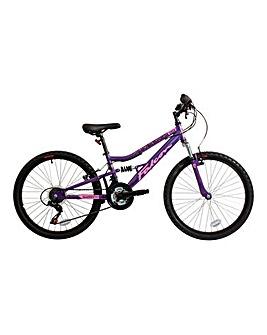 Girls Falcon Siren 24in Suspension Bike