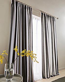Clevedon Stripe Pencil Pleat Curtains