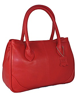 Blousey Brown  Leather Handbag