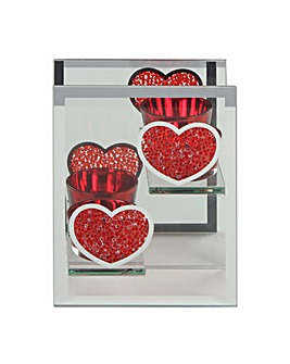 Two Hearts Tea Light Holder
