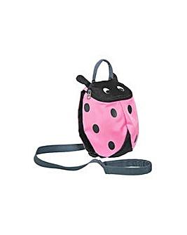 Trespass Ladybird Reins Backpack - Pink.