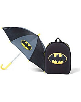 Batman Logo Backpack & Umbrella Set.
