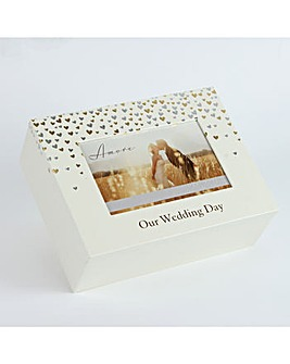Amore Little Hearts Wedding Keepsake Box