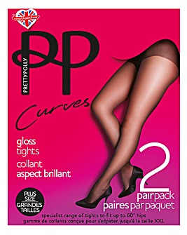 Pretty Polly 2Pk 10 Denier Gloss Tights