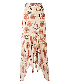 Joanna Hope Print Layered Skirt