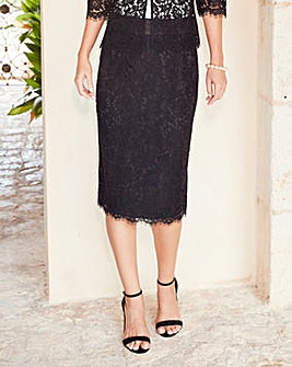 Joanna Hope Lace Pencil Skirt