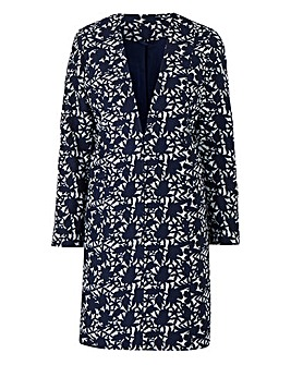 Joanna Hope Jacquard Longline Jacket