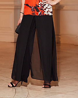 Joanna Hope Overlay Palazzo Trousers