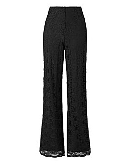 Joanna Hope Lace Wide Leg Trousers 28in