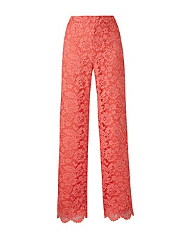 Joanna Hope Lace Wide Leg Trousers 30in