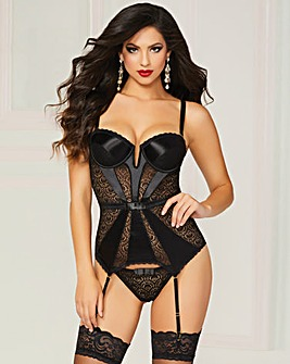 Seven Til Midnight Two-Piece Bustier Set