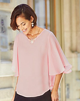 Joanna Hope Angel Sleeve Blouse