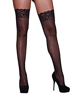 Dreamgirl Plus Size Fishnet Stockings